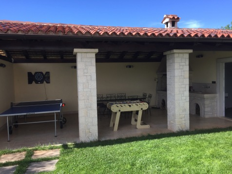 Undercover Outside eating/BBQ area with Table Tennis/Beer Pong and Football Table
